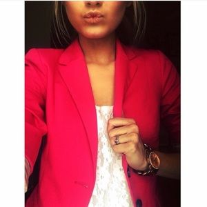 Double Breasted Hot Pink H&M Blazer